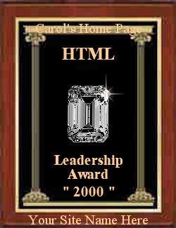 HTML  Leadership Award