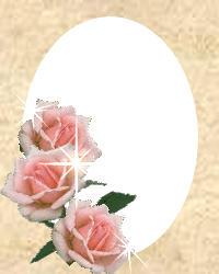 Rose Oval Frame